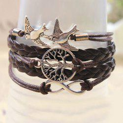Retro Handmade Weaved Bird Decorated Bracelet -