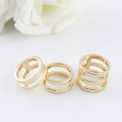 3PCS of Hollow Out Alloy Rings - AS THE PICTURE