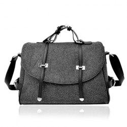 Fashion Buckle and Metallic Design Women's Crossbody Bag - DEEP GRAY