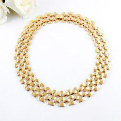 Hollow Out Multilayered Chain Necklace -