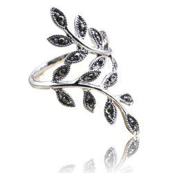 Curved Branch Shape Alloy Ring -