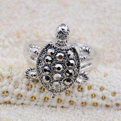 Diamante Turtle Embellished Alloy Ring -