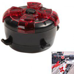 Brand New 4 Led Rotate Variable Color Bicycle Light Warning Lights Safety Tail Light
