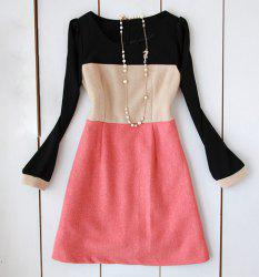 Color Block Jumper Dress