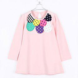 Sweet Style Scoop Neck Colormix Polka Dot Long Sleeves Cotton Blend T-Shirt For Kids -