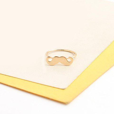 Store Sweet Moustache Shape Solid Color Alloy Ring For Women