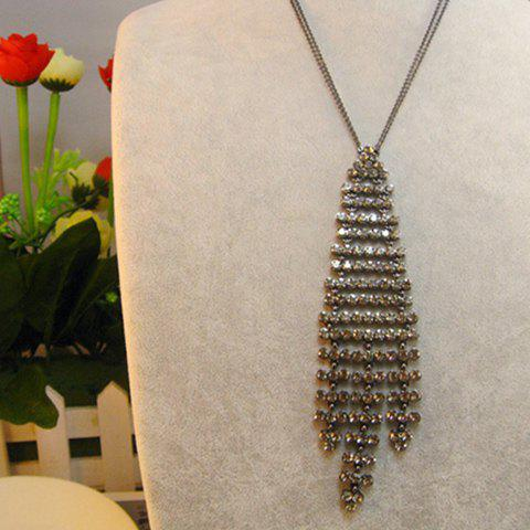 Outfits Rhinestoned Long Tassels Alloy Sweater Chain