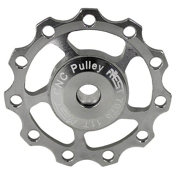 New 1PCS AEST A-06 Aluminium Jockey Wheel Rear Derailleur Pulley for Shimano and SRAM - Silver
