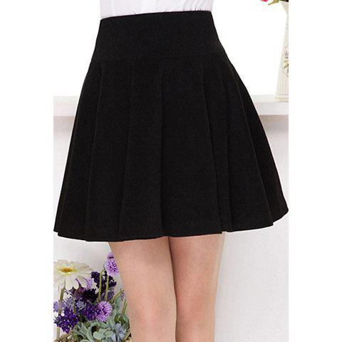 Best Vintage Empire Waist Black Pleated Skirt For Women