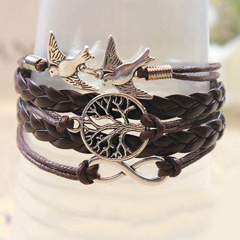 New Retro Handmade Weaved Bird Decorated Bracelet