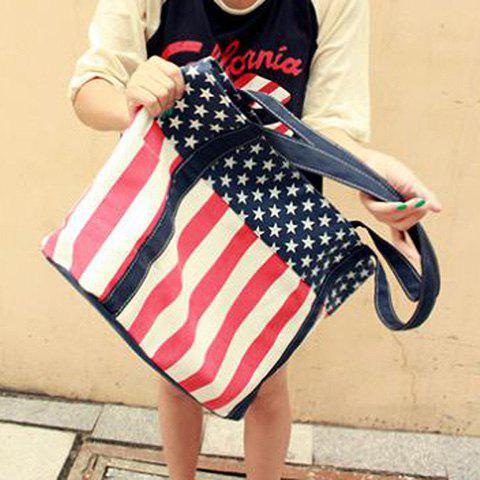 Outfits Fashion Striped and Canvas Design Women's Shoulder Bag