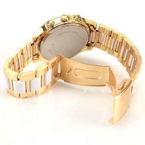 Paidu Quartz Watch with Rectangls and Strips Indicate and Plastic and Steel Watch Band for Women -