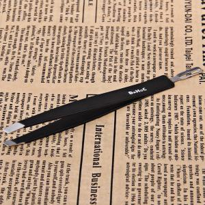 Makeup Tools Dual-purpose Steel Black Eyebrow Tweezers