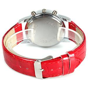 WoMaGe Quartz Watch with Rectangles Hour Marks Real Leather Watchband for Women -