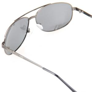 Valentine Metal Frame UV Protection Men Driving Sunglasses with Gray TAC Polarized Lens -