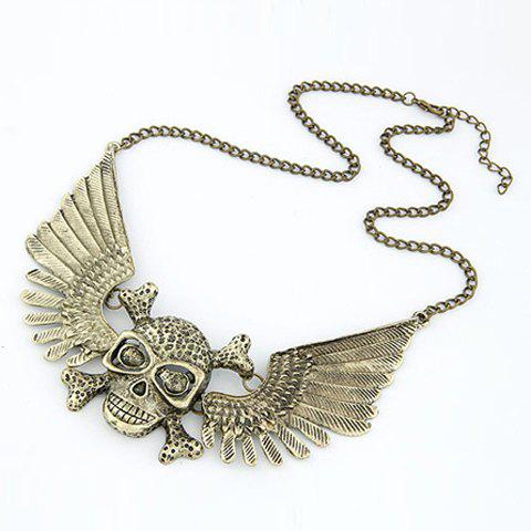 Discount Retro Skull Pendant Necklace For Women