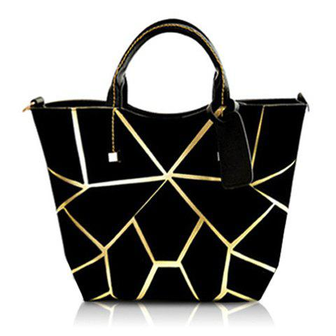 Shop Stylish Geometric Print and Zipper Design Women's Tote Bag