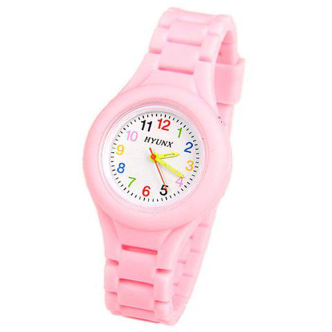 Buy HYUNX Children Watch with 12 Arabic Numbers Indicate and Silica Gel Band
