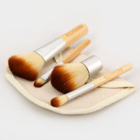 Chic 4PCS High-end Soft Cosmetic Face Make-up Brush Sets Powder Brush for Ladies with a Bag