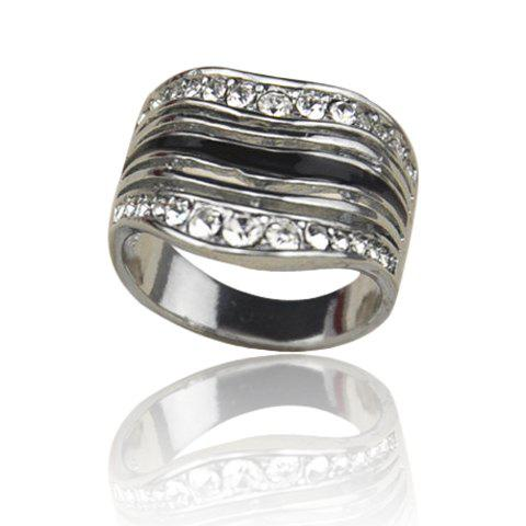 Fashion Chic Rhinestone Inlaid Ring For Men - ONE SIZE AS THE PICTURE Mobile