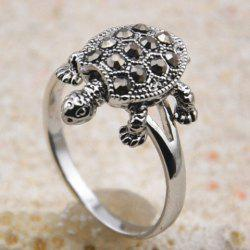 Cute Diamante Tortoise Embellished Alloy Ring For Women -