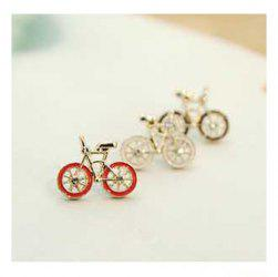 Bicycle Shape Design Ear Pin - RED