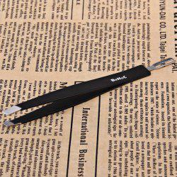 Makeup Tools Dual-purpose Steel Black Eyebrow Tweezers -