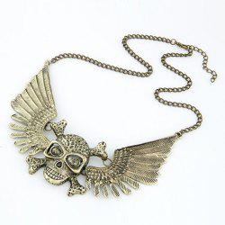 Retro Skull Pendant Necklace For Women -