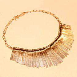 Tassel Pendant Alloy Necklace - AS THE PICTURE