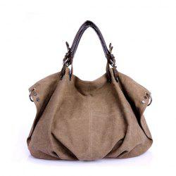 Stylish Canvas and Zipper Design Women's Tote Bag -