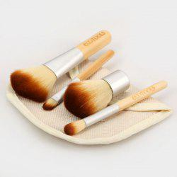 4PCS High-end Soft Cosmetic Face Make-up Brush Sets Powder Brush for Ladies with a Bag