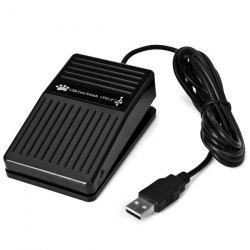 Convenient Hands Free Plastic USB Foot Switch Control Pedal for PC Games -