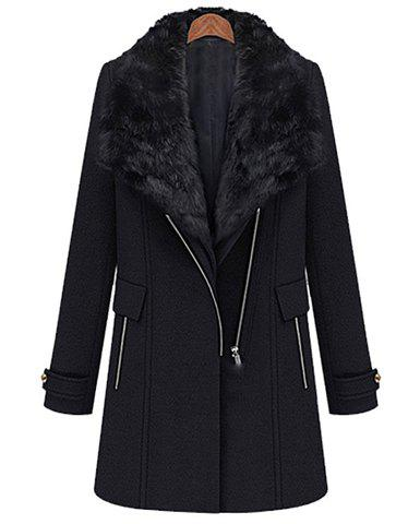 Affordable Modern Style Lapel Collar Zipper One-Button Solid Color Waistcoat And Overcoat Twinset For Women