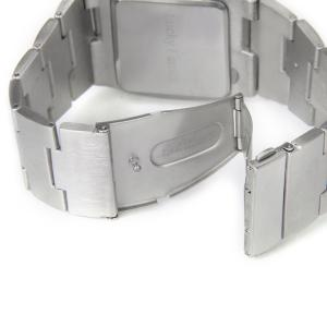 Brushed and Matte Steel Band LED Watch with Numbers Hour Marks Special Shaped -
