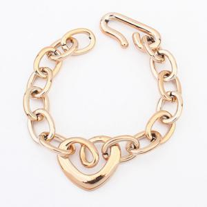Gold Plated Openwork Heart Shape Bracelet