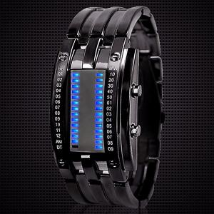 Waterproof Watch with Blue Light Time-Date Indicate Steel Watchband for Men -