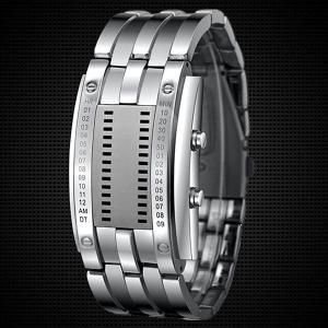 Waterproof Watch with Blue Light Time-Date Indicate Steel Watchband for Men - SILVER
