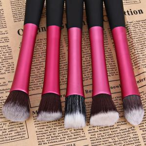 5PCS Professional Soft Cosmetic Face Brush Finishing Powder Brush Cylinder Brush Sets -