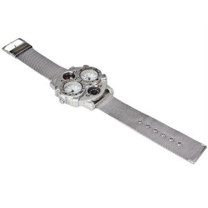 Oulm Double Japan Movt Watch with Analog Indicate and Steel Mesh Strap Watchband for Men -
