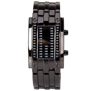 Waterproof Watch with Blue Light Time-Date Indicate Steel Watchband for Women -