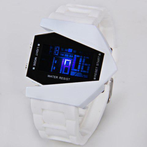Hot 30M Waterproof Rubber Band 7-colors LED Watch with Numbers Hour Marks Bomber Shaped
