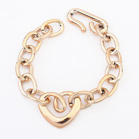 Best Gold Plated Openwork Heart Shape Bracelet
