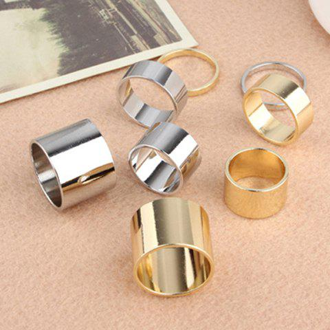 4PCS of Alloy Knuckle Index Finger Rings - COLOR ASSORTED ONE SIZE