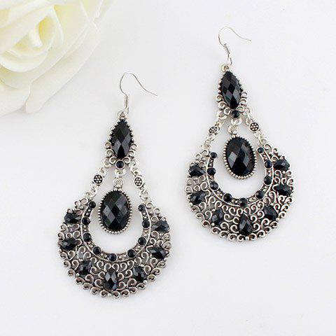 Outfits Bohemian Openwork Water Drop Shape Earrings
