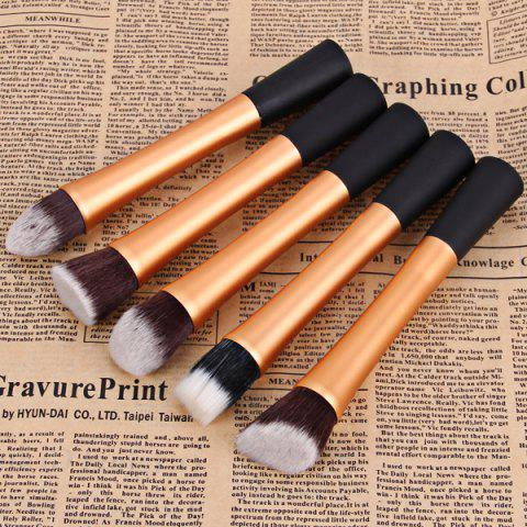 Trendy 5PCS Professional Soft Cosmetic Face Brush Finishing Powder Brush Cylinder Brush Sets
