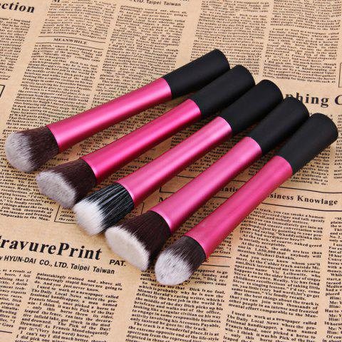 Sale 5PCS Professional Soft Cosmetic Face Brush Finishing Powder Brush Cylinder Brush Sets PLUM