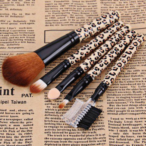 Trendy 5PCS Professional and Practical Soft Cosmetic Face Brush Powder Brush Sets