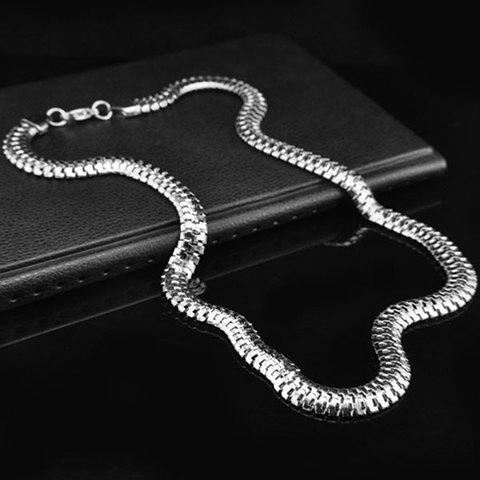 Online Snake Bone Shape Alloy Necklace