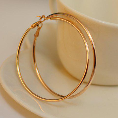 Fashion Pair of Alloy Hoop Earrings - AS THE PICTURE  Mobile