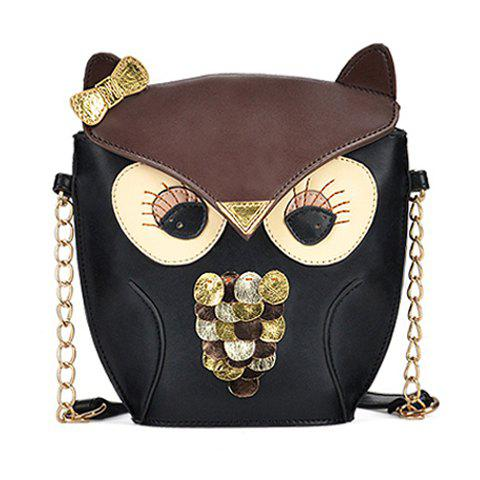 Cheap Women's Splicing Color Cross Body Bag Owl Pattern